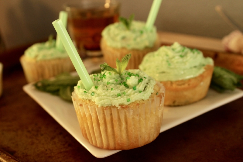 These mint julep cupcakes are ideal for any Kentucky Derby party. insolence + wine