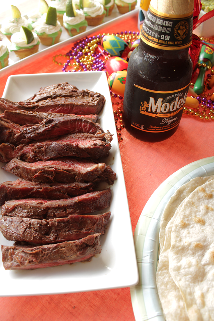 Authentic Carne Asada recipe. Cinco de Mayo fiesta recipes. insolence + wine