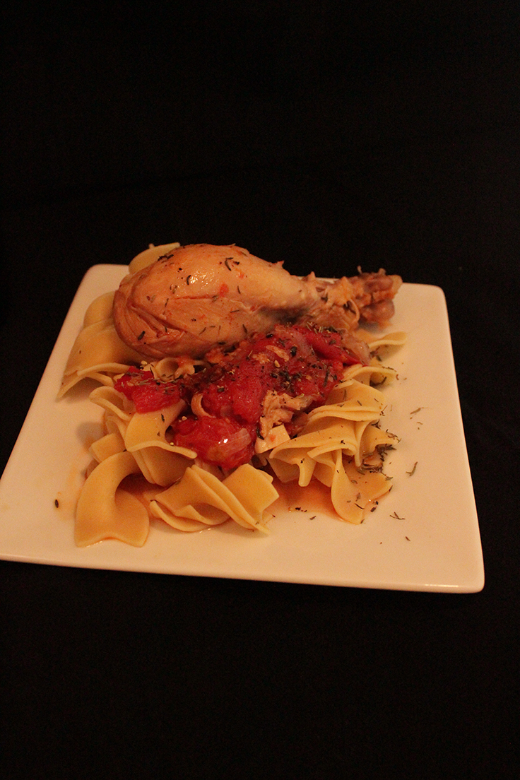 Chicken Cacciatore with Red Wine and Mushrooms