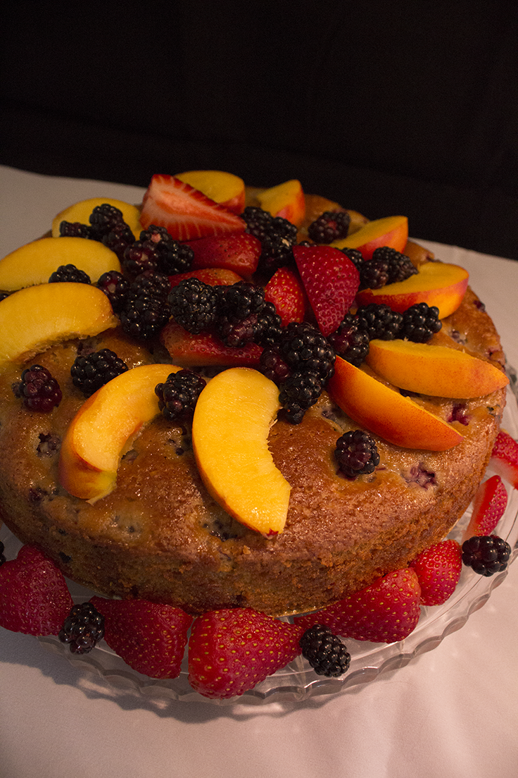 Olive Oil Berry Cake