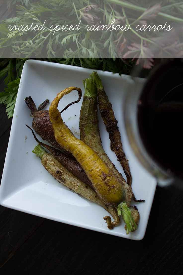 Roasted Spice Rainbow Carrots