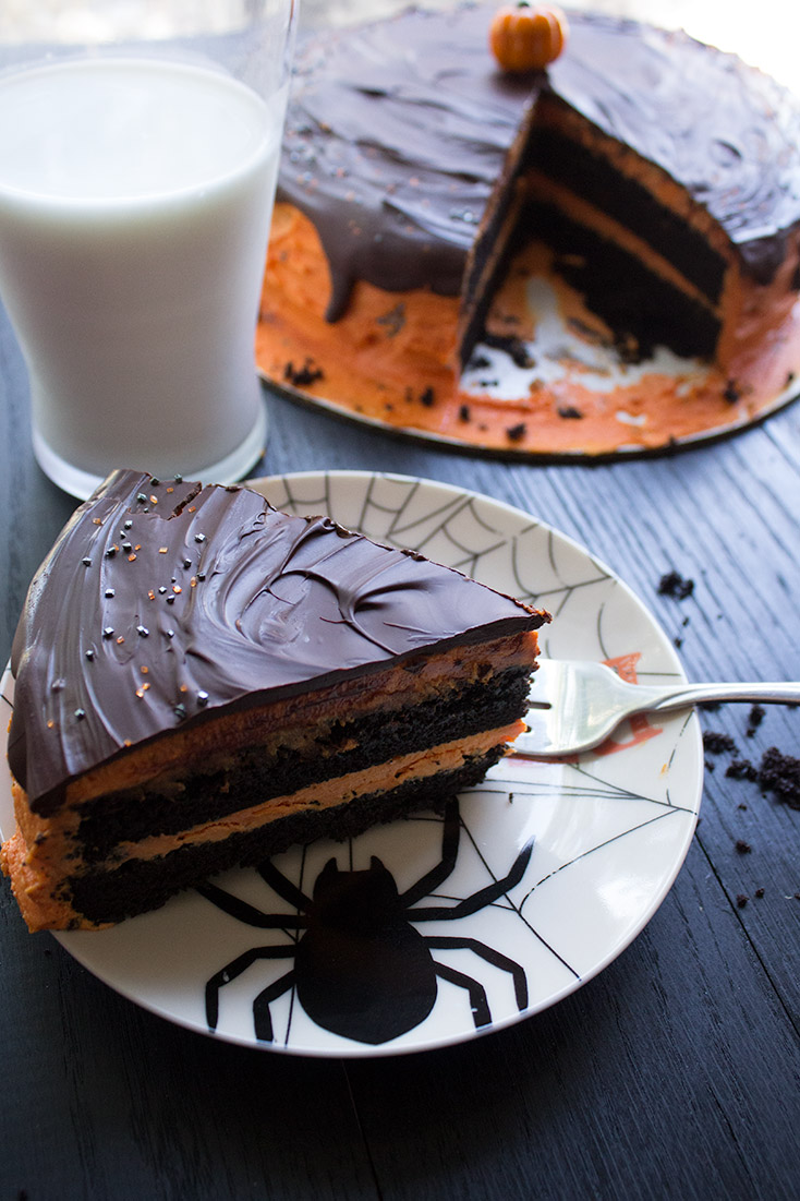 Delicious devil's food cake is the one chocolate dessert you need in your arsenal this Halloween. insolenceandwine.com