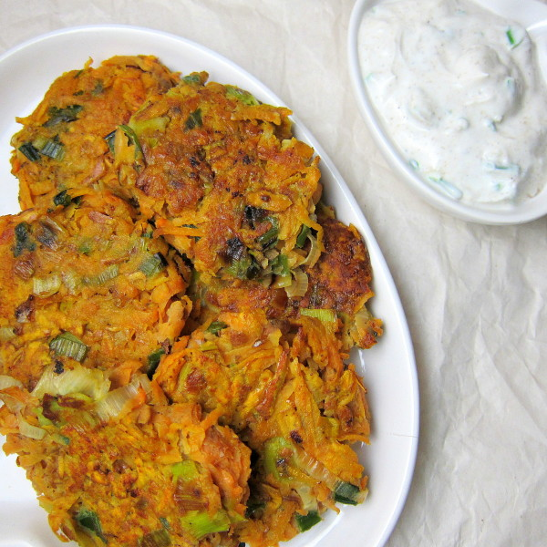 Who knew sweet potato latkes were even a thing?! Yes, please! These latkes from  Babaganosh  are served alongside a generous serving of cumin-garlic yogurt.
