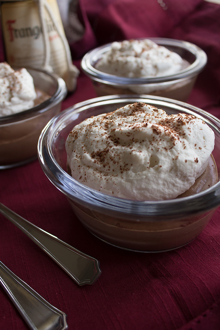 This easy hazelnut mousse has an added boozy kick to it's flavor. insolenceandwine.com