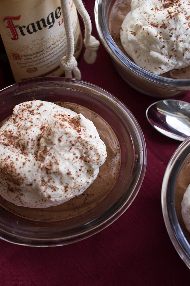 This easy hazelnut mousse has an added boozy kick to it's flavor.