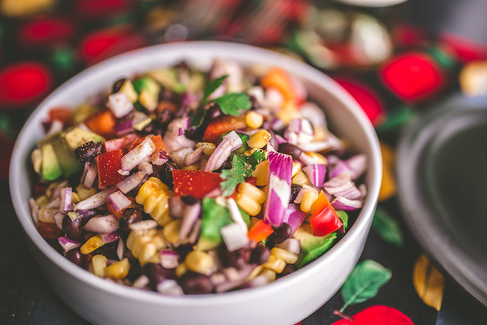 This corn salad is the perfect vegetarian side dish to bring to potluck's or backyard barbecues.