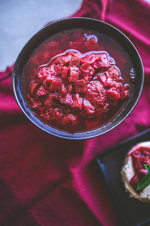 Baked rhubarb compote is a delicious finale for custard desserts, waffles and ice cream. | insolenceandwine.com