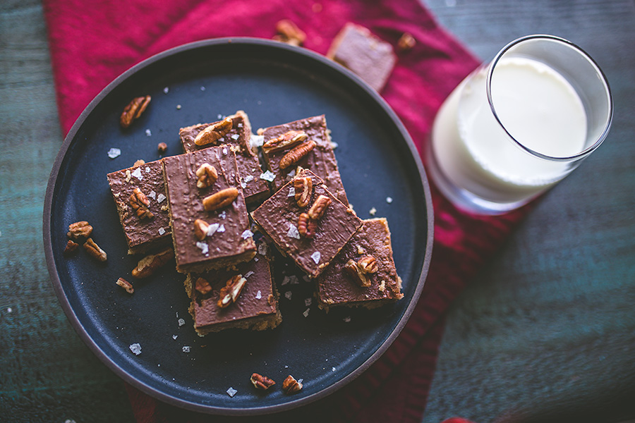 Crunchy turtle cookie bars are a must-have around the holidays.