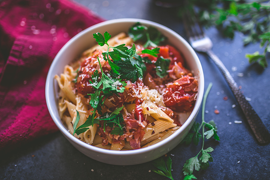 All'arrabbiata Pasta is the ideal weeknight pasta.