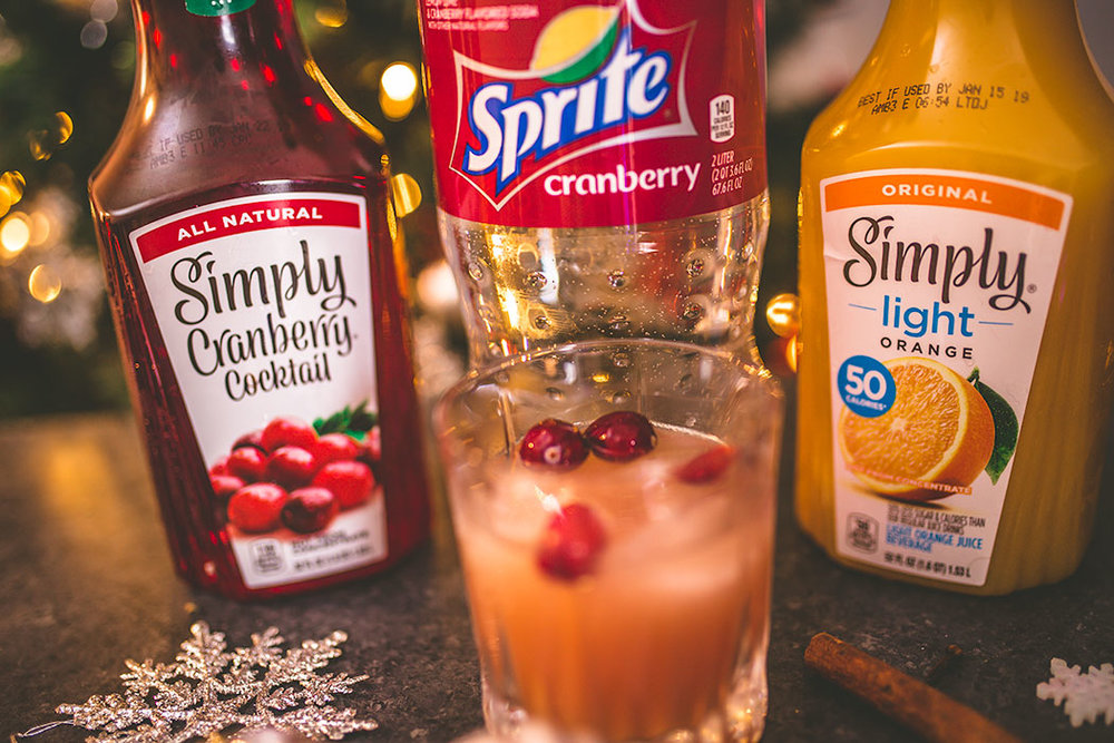 Spiced Cranberry-Orange Rye Punch