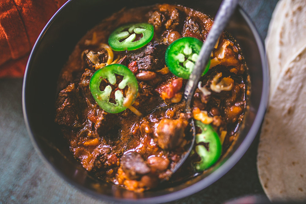 Overnight Slow Cooker Chile Con Carne