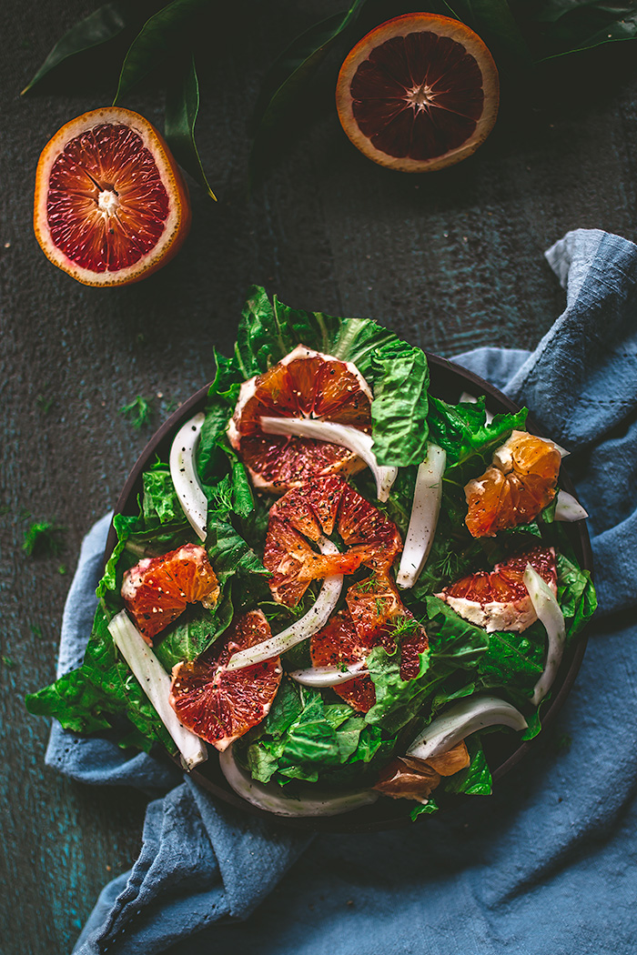 When it's dark and stormy outside, this simple blood orange and fennel salad is an easy way to brighten the day.