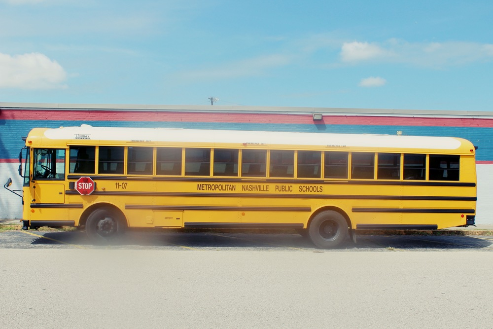 School Bus Seen In Nashville, Tennessee