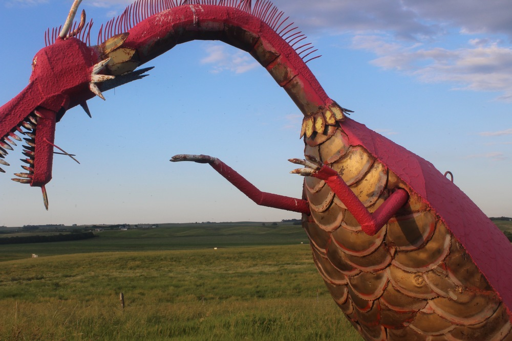Folk Artist Wayne Porter's sculpture park and studio, Montrose, South Dakota