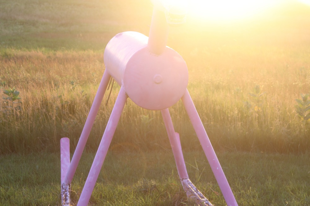Folk Artist Wayne Porter's sculpture park and studio, Montrose, South Dakota