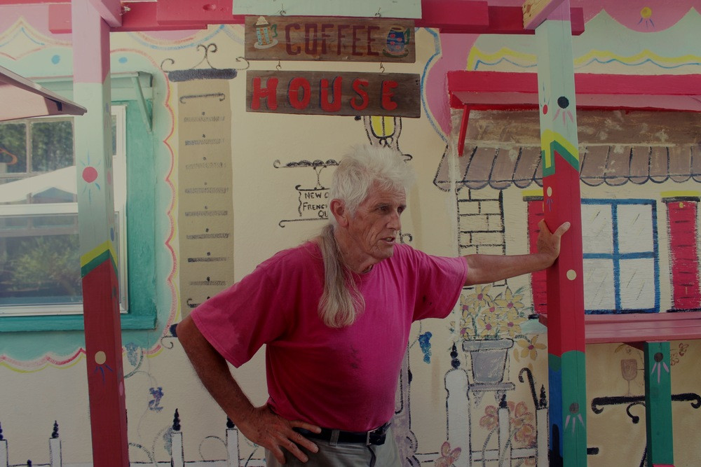 Activist and Folk Artist John Durham at his Wild Goose Studio, Clinton, Arkansas