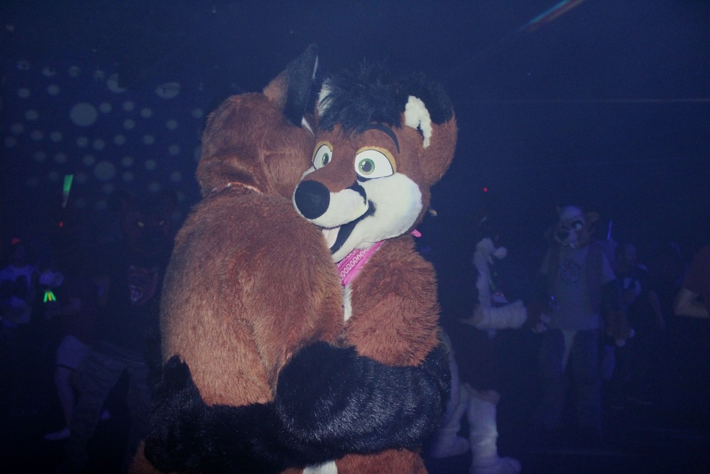 Two Foxes Slow-Dancing, Anthrocon (Furry Convention), Pittsburgh, Pennsylvania