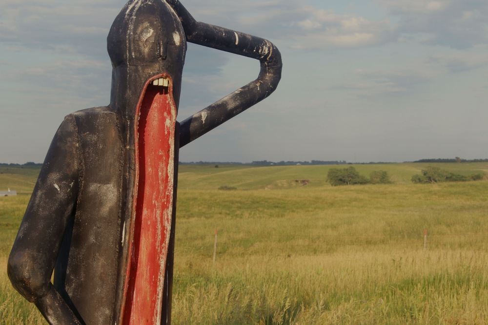 Artist Wayne Porter's Sculpture Park and Studio, Montrose, South Dakota