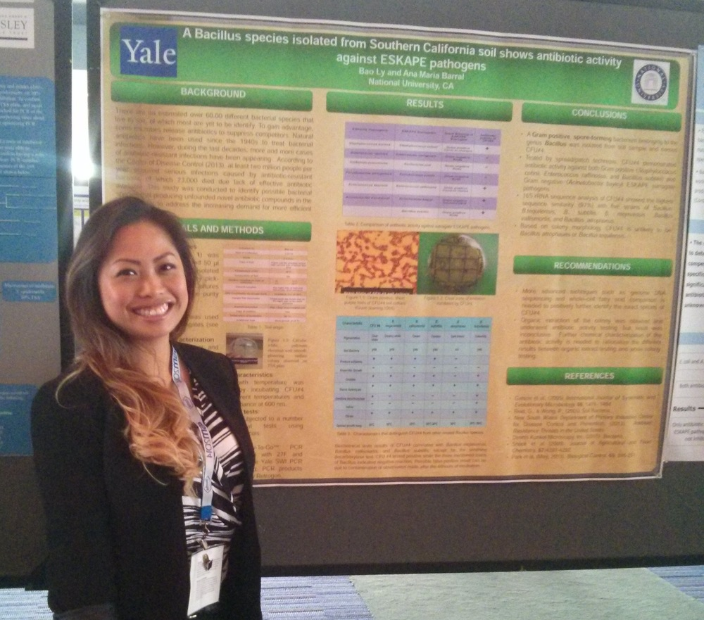 ANA MARIA BARRAL'S STUDENT PRESENTING ATASM CONFERENCE