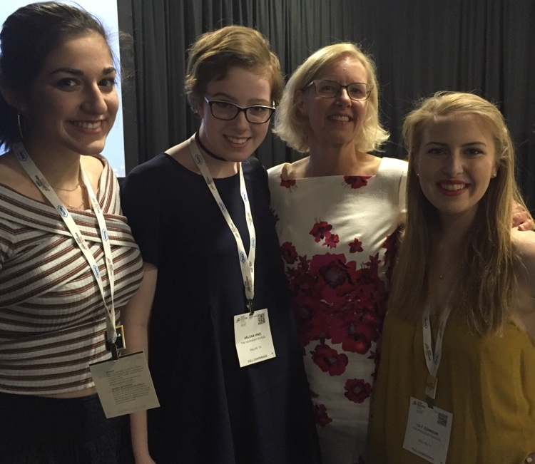 whoriskey (second from right) with small world initiative high school researchers from the hockaday school at swi's 3rd annual symposium at asm microbe in boston.
