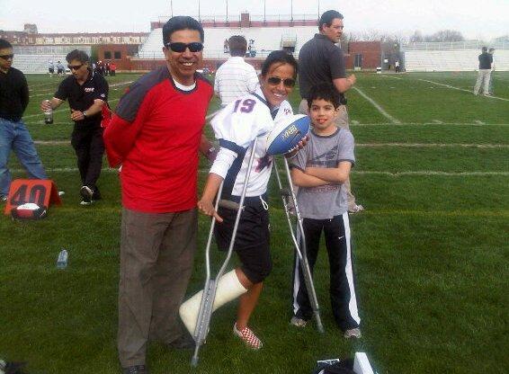 Sol on crutches