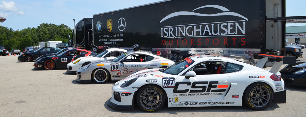 Isringhausen Motorsports cars testing at Autobahn Country Club