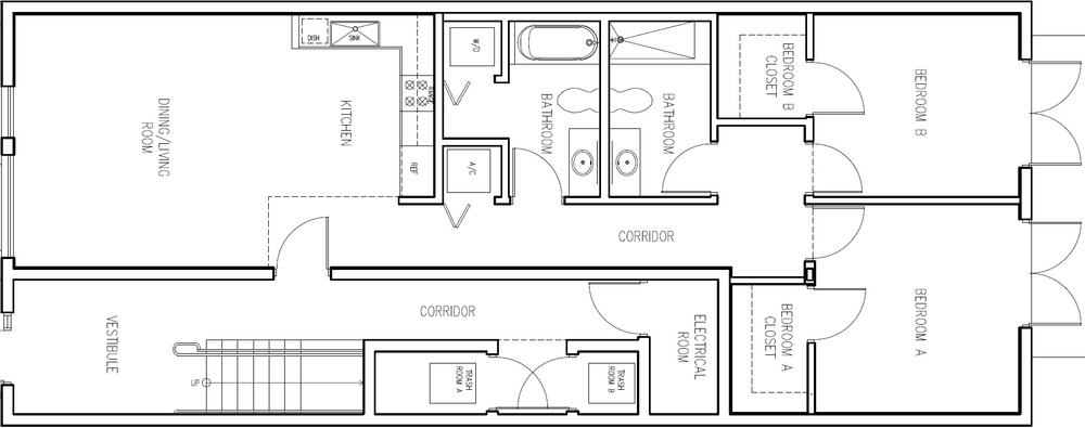 2 Bedroom A (Click to Enlarge)