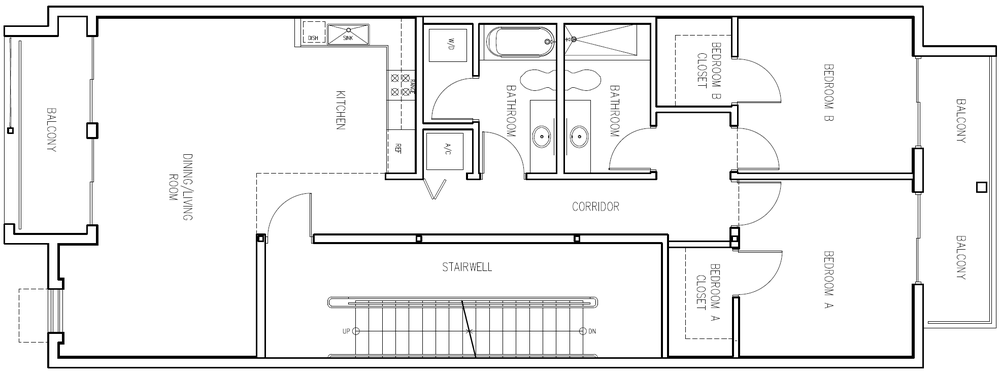 2 Bedroom B (Click to Enlarge)