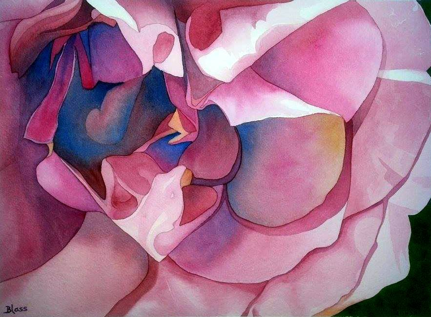"""A Rose is a Rose"", 11x15"" watercolour on paper,  $995."