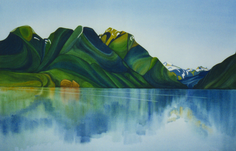 Redeeming Golden Ears, watercolour on paper, 14 x 21 in, 36 x 53 cm (NFS)