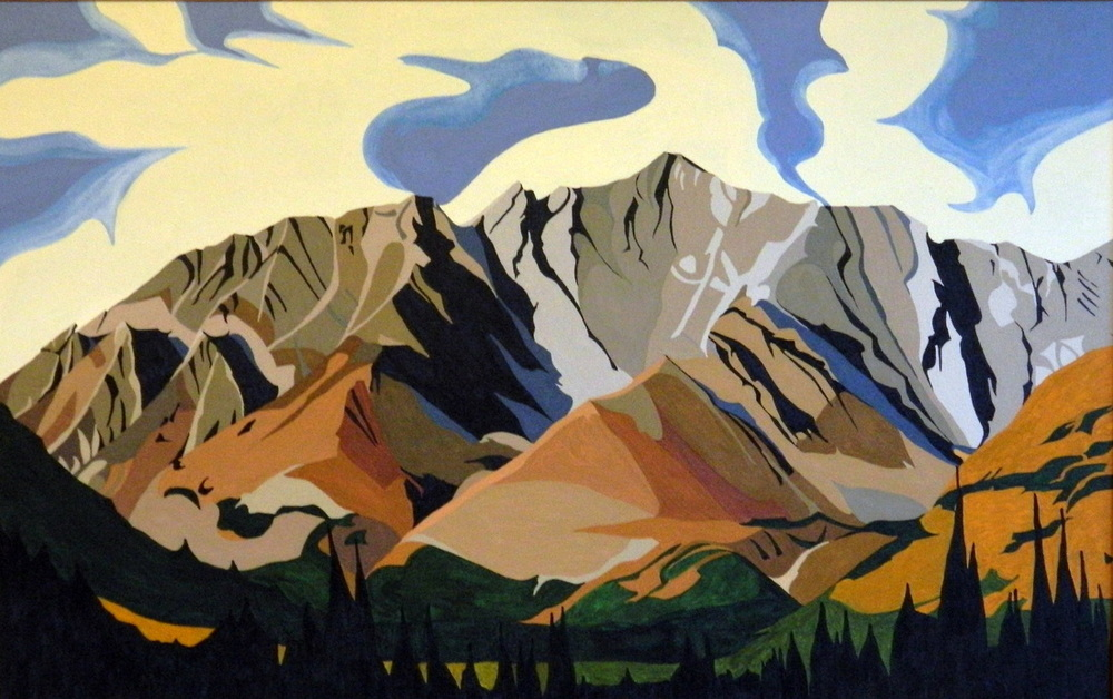 "Highwood Pass, acrylic on canvas, 20 x 30"", $750."