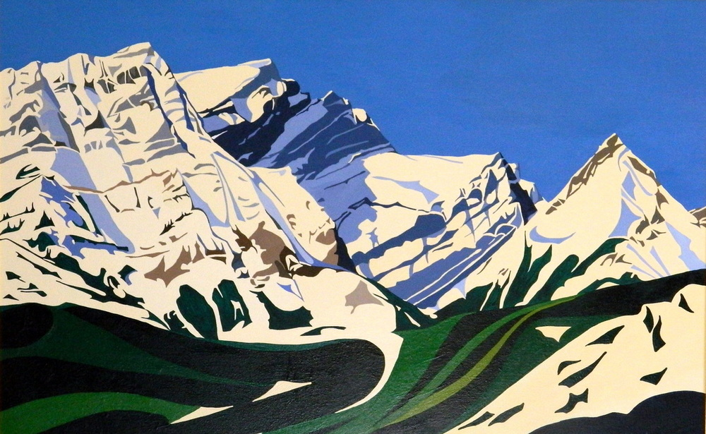 "Kananaskis Horizon, acrylic on canvas, 20 x 30"", $750. (SOLD)"