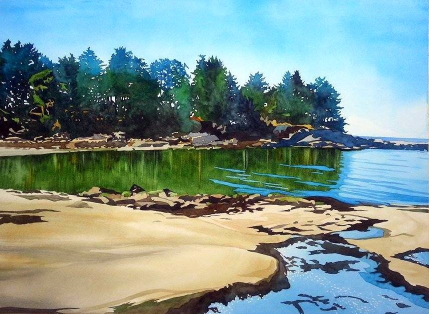 """Gabriola Memories"", watercolour on paper, 22x30""  $1800. SOLD"
