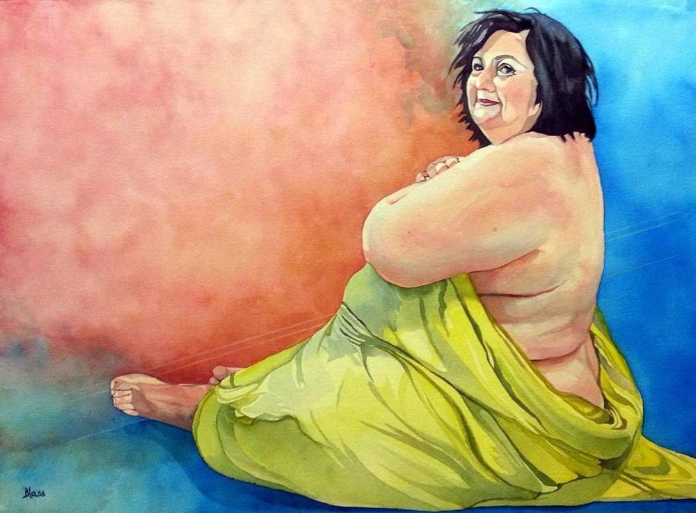 """""""Eshet Chayil #2: Joy"""", Watercolour on paper, 22x30"""", $1600. unframed"""