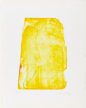 """Helen Frankenthaler """" I Need Yellow"""" 1973"""