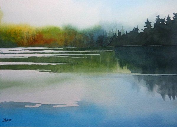 Cameron Lake, painted last month.