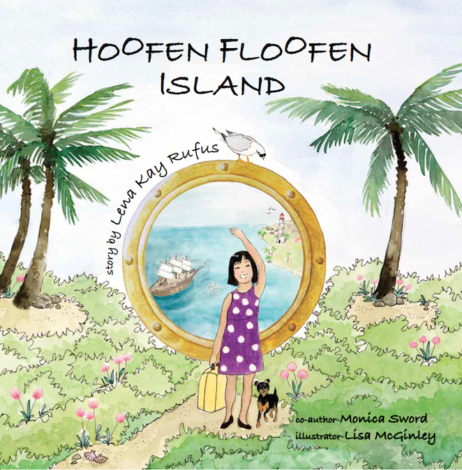 Hoofen floofen island, children's storybook cover