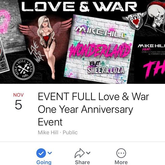 We are all excited for tomorrow, are you ready?  Looks like we'll have partly cloudy skies all day with a high of 68° and a low of 62° 🌥 so dress warm and cozy and we'll see y'all there! #loveandwar #anniversary #album #music #localmusic #localartists #socal