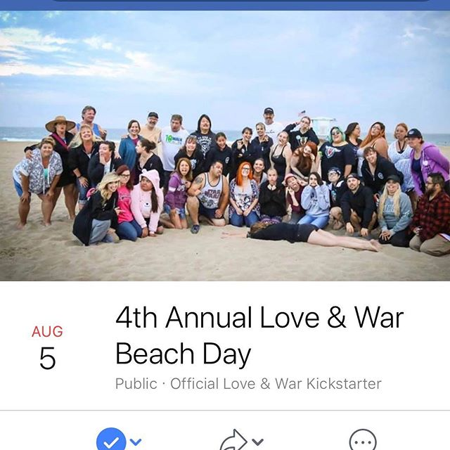 Don't forget! Our 4th Annual Love & War Beach Day is next month!  Who has been to all of them so far?  We're so excited to see everyone again! August 5th. Huntington Beach. We'll be having fun in the sun 10am-10pm and like the others this'll be a potluck. Keep an eye on the Facebook event page for any updates and info! 🖤🤟🏻✨☀️⛱🌊 #loveandwar #beachday #4thannual #huntingtonbeach #potluck #funinthesun