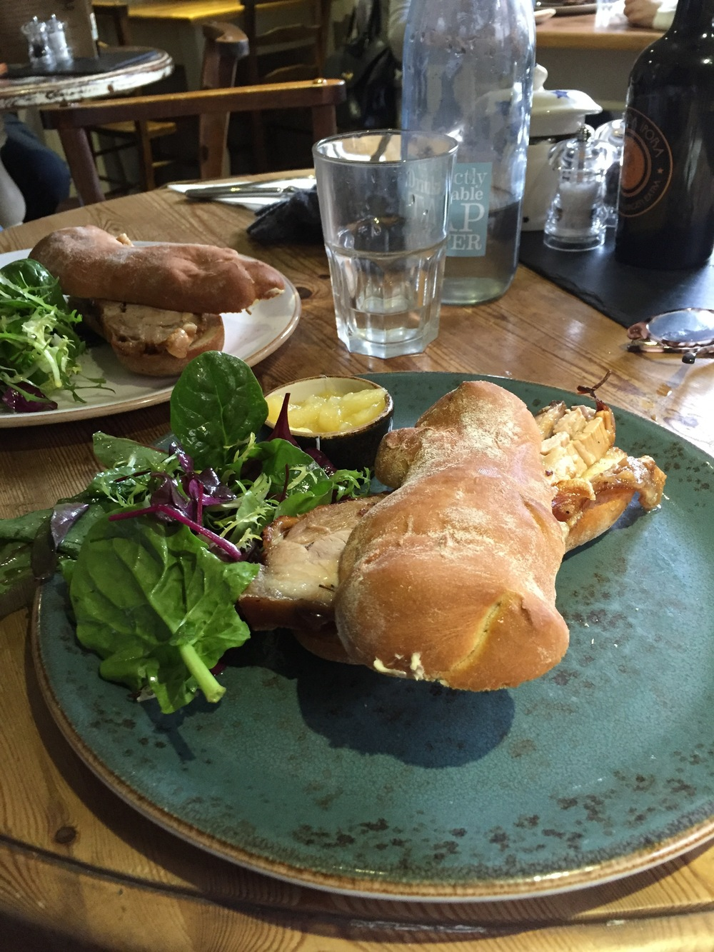 pork sandwich at Mannion & Co in York