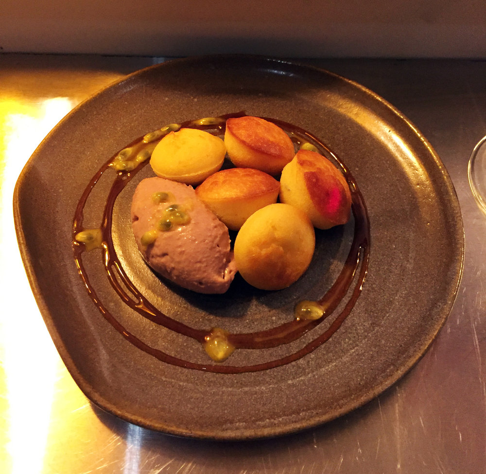 Goosnargh Duck Liver Mousse, Almond Buns, Passionfruit and Miso