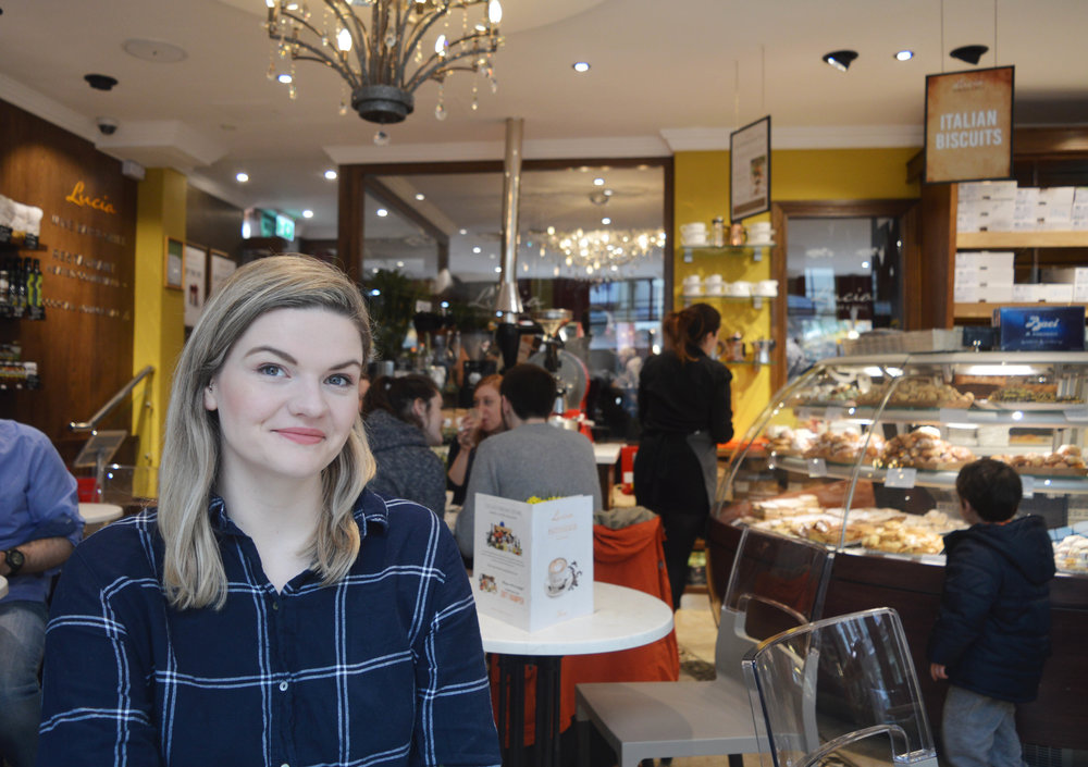 Bethan at Lucia's patisserie York