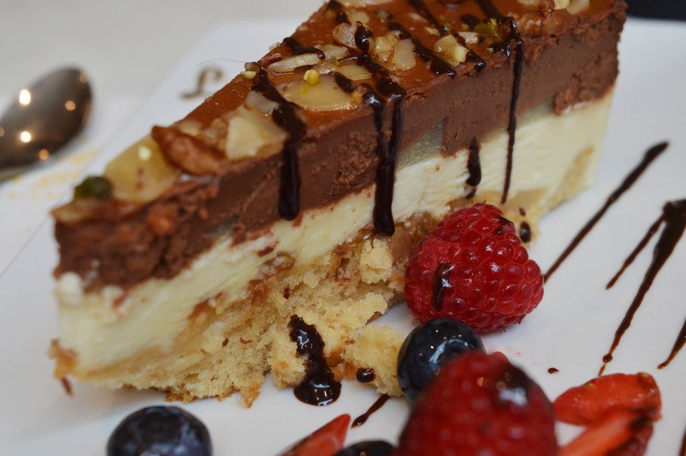 Pear and Chocolate Torte