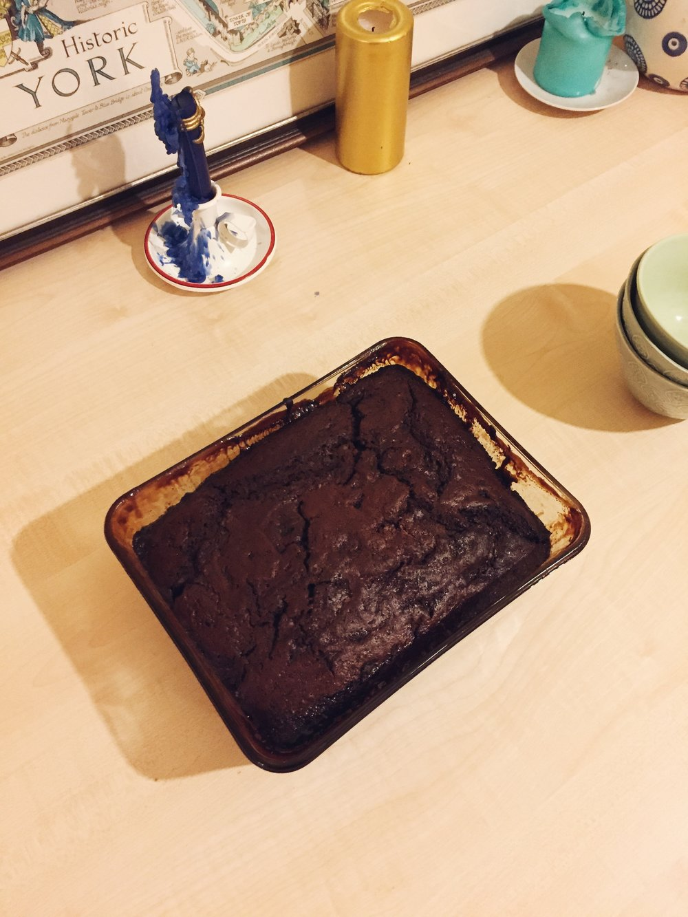 I tried my hand a self saucing chocolate pudding on Saturday evening.