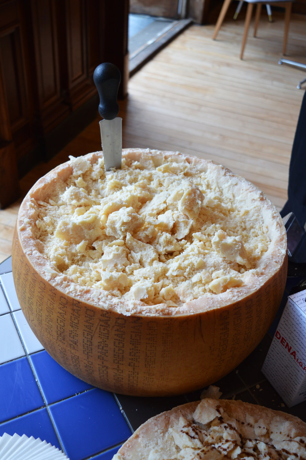 Carluccio's St Helens Square York giant parmesan