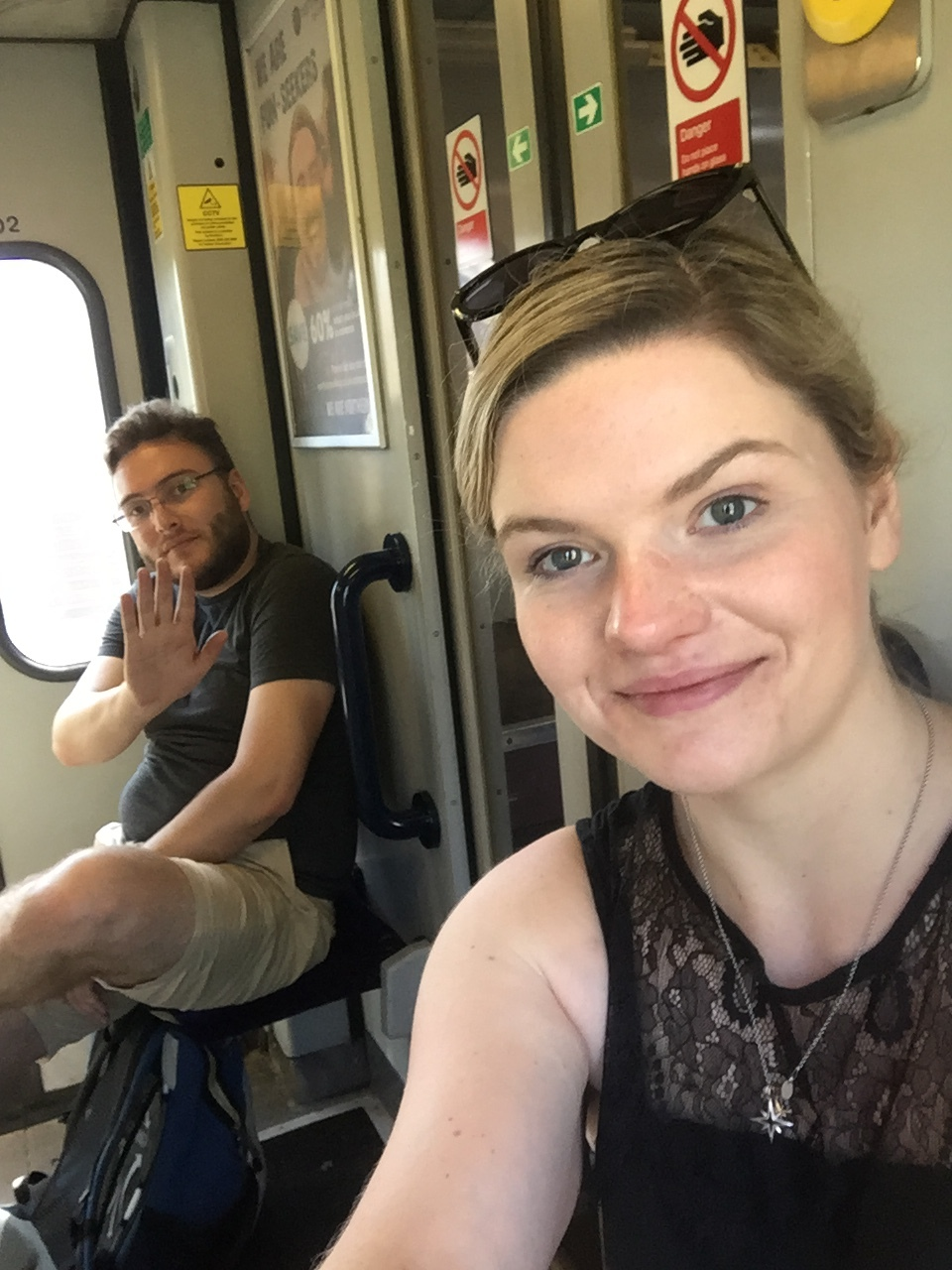 Hot and sweaty train faces