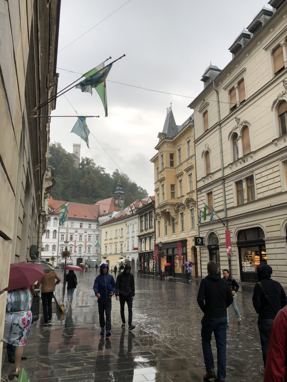A rainy start in Ljubljana