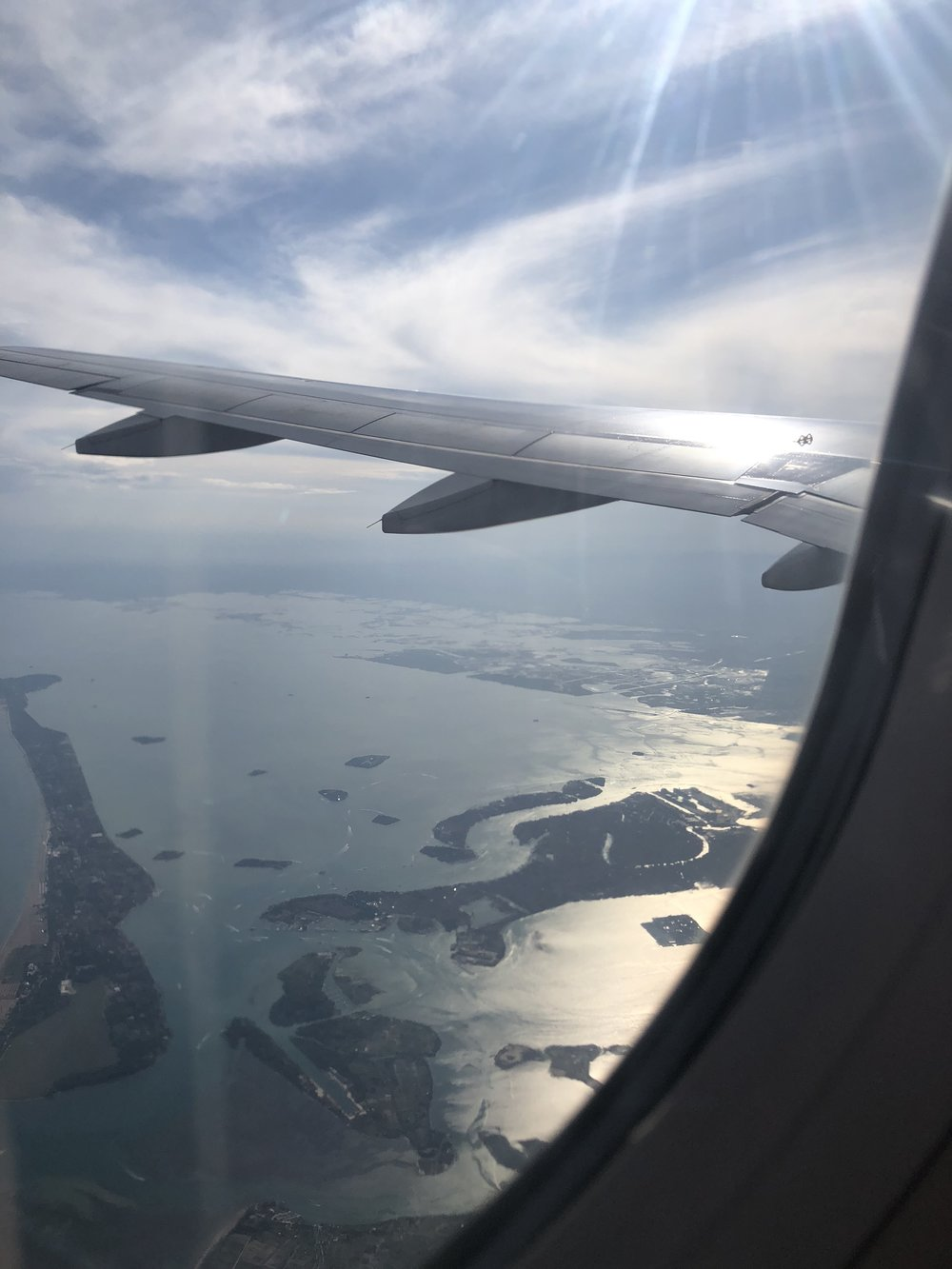 View of Venice Islands from The Air