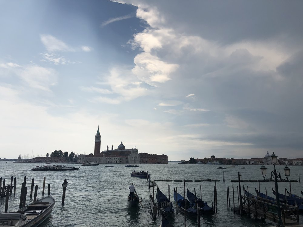 A thundery view over the lagoon in Venice