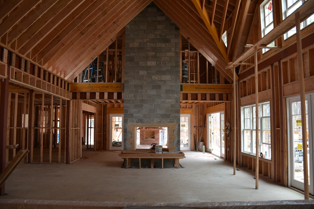 When we are tasked to design a new custom shingle style home, we constantly try to push the limits with dramatic spaces that feature large open living areas and entertaining spaces.